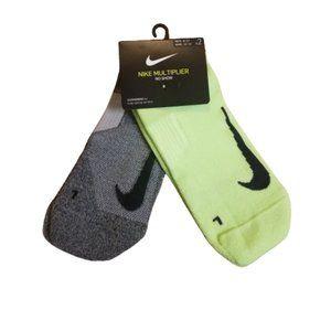 Nike Multiplier Socks No Show Mens | Green / Grey